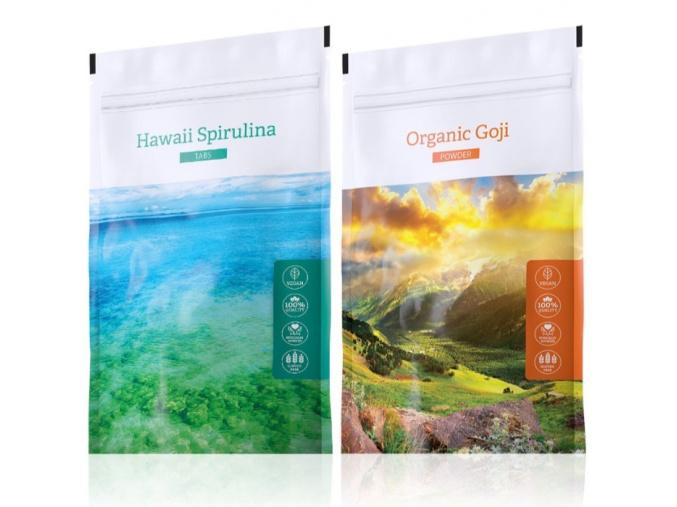 Hawaii Spirulina tabs a Organic Goji powder od Energy