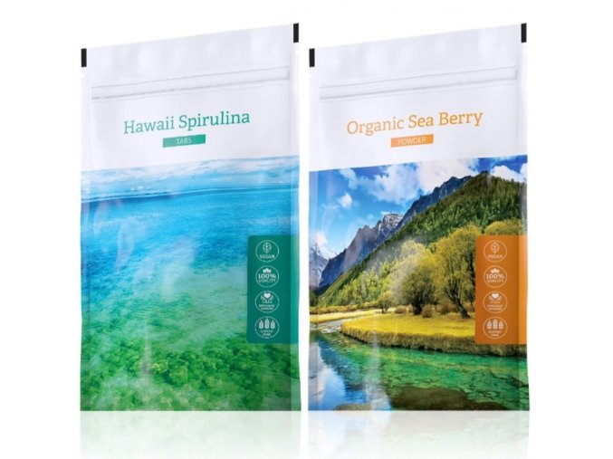Hawaii Spirulina tabs a Organic Sea Berry powder od Energy