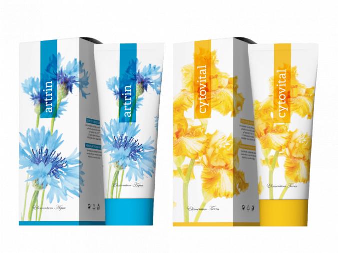 Terapeutické krémy Cytovital a Artrin 250 ml od Energy