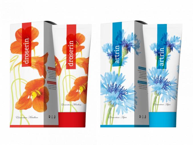 Terapeutické krémy Artrin a Droserin 250 ml od Energy