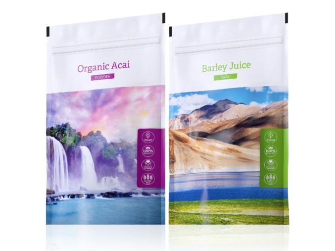 Organic Acai powder a Barley juice tabs od Energy