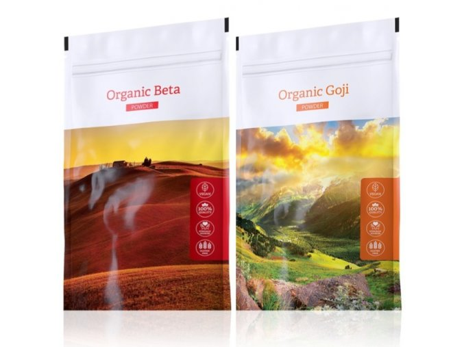 Organic Beta powder a Organic Goji powder od Energy