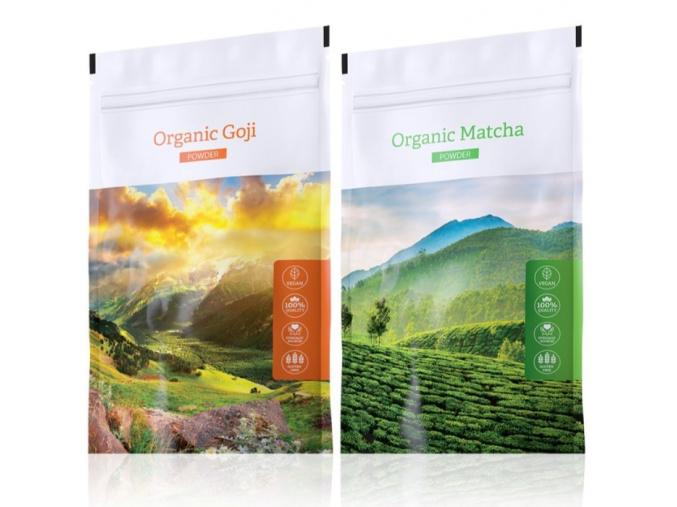 Organic Goji powder a Organic Matcha powder od Energy