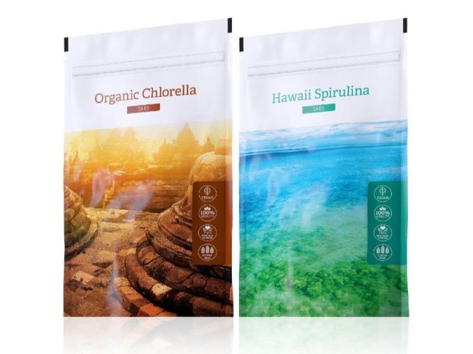 Organic Chlorella a Hawaii Spirulina tabs od Eneergy