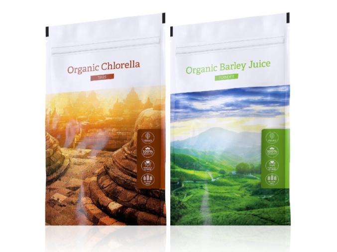 Organic Chlorella tabs a Barley juice powder od Energy