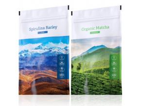 Spirulina Barley a Organic Matcha powder od Energy