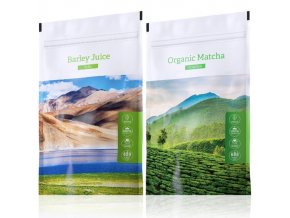 Barley Juice tabs a zelený čaj Organic Matcha powder od Energy