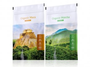 Organic Matcha powder a Organic Maca tabs od Energy
