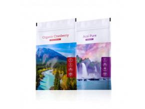 Organic Acai powder a nápoj z kanadské brusinky Organic Cranberry Juice powder od Energy