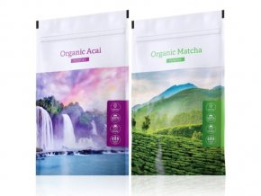 Organic Acai powder a Organic Matcha powder od Energy