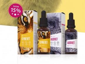 Veterinární přípravky Gynevet a Audivet od Energy