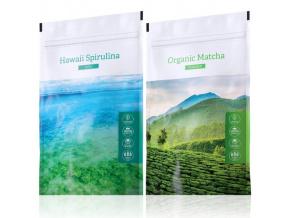 Hawaii Spirulina tabs a zelený čaj Organic Matcha powder od Energy