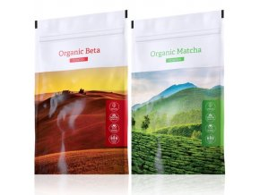 Organic Beta powder a zelený čaj Organic Matcha powder od Energy