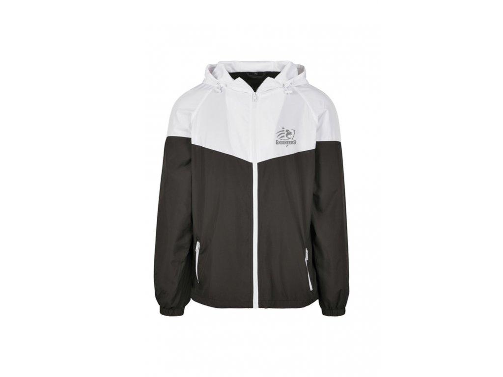 Sportovní bunda bílo-černá (větrovka)