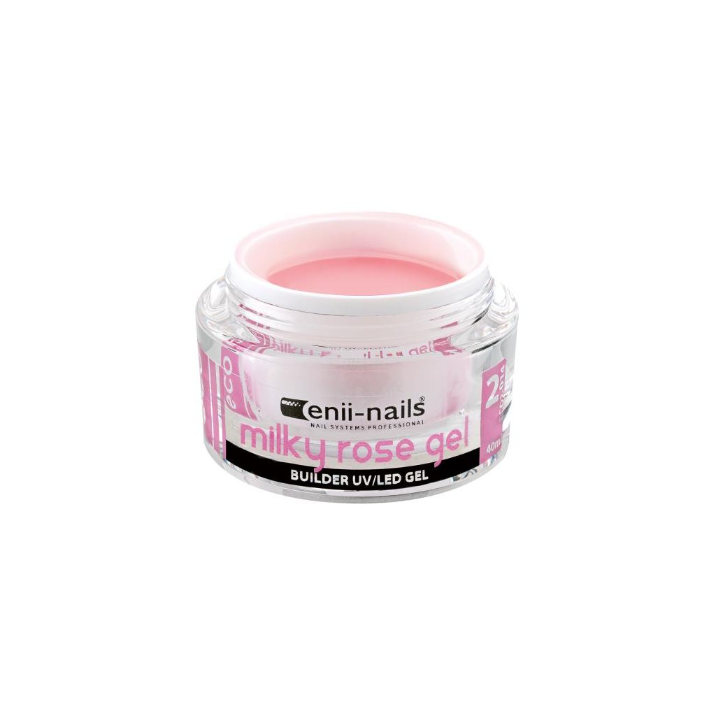 Uv led gel builder milky rose 40 ml