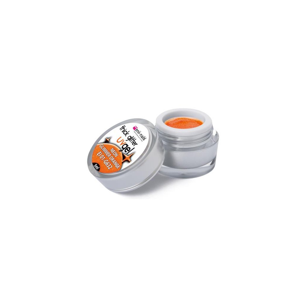 Glitter uv gel neon glimmer orange 5 ml