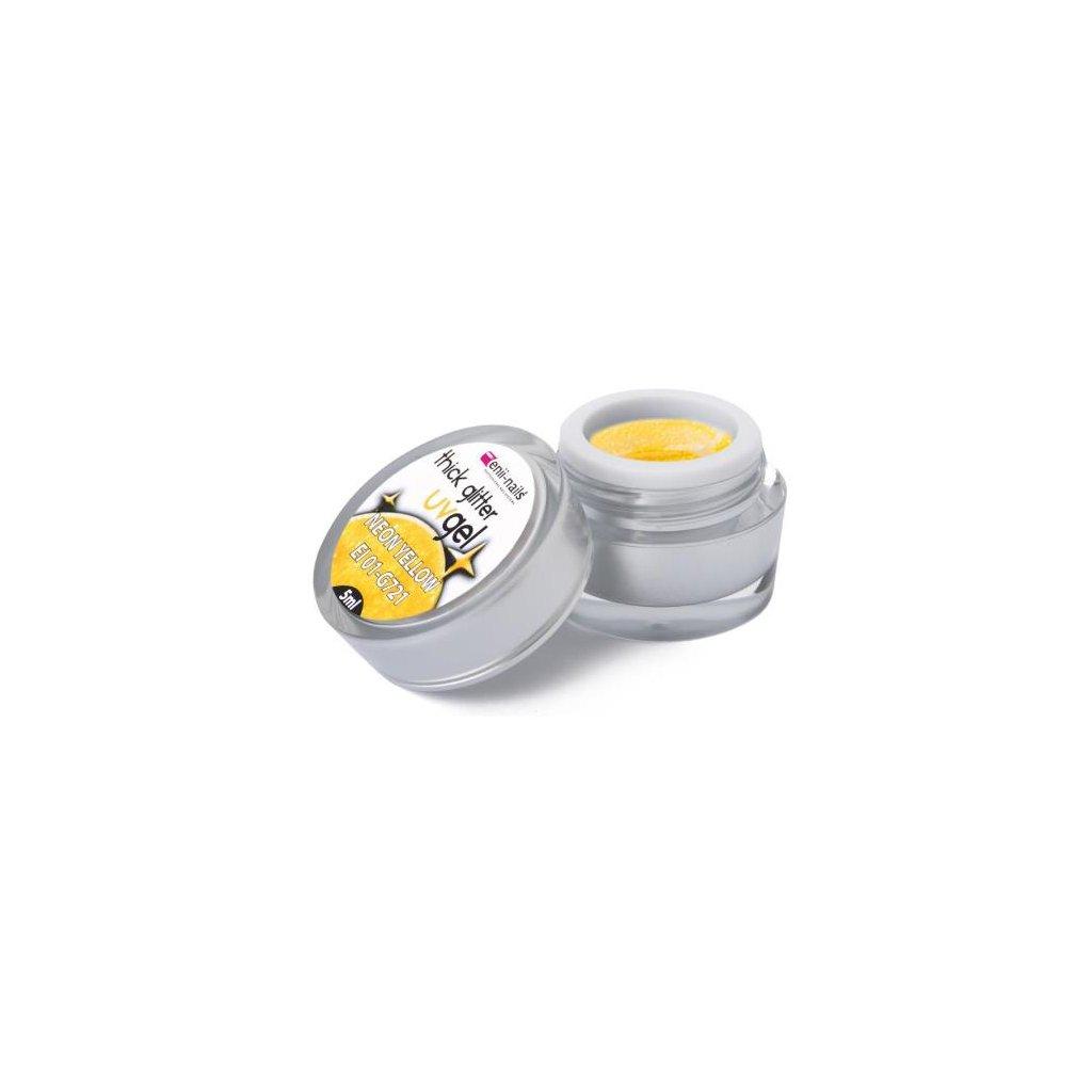 Glitter uv gel neon yellow 5 ml