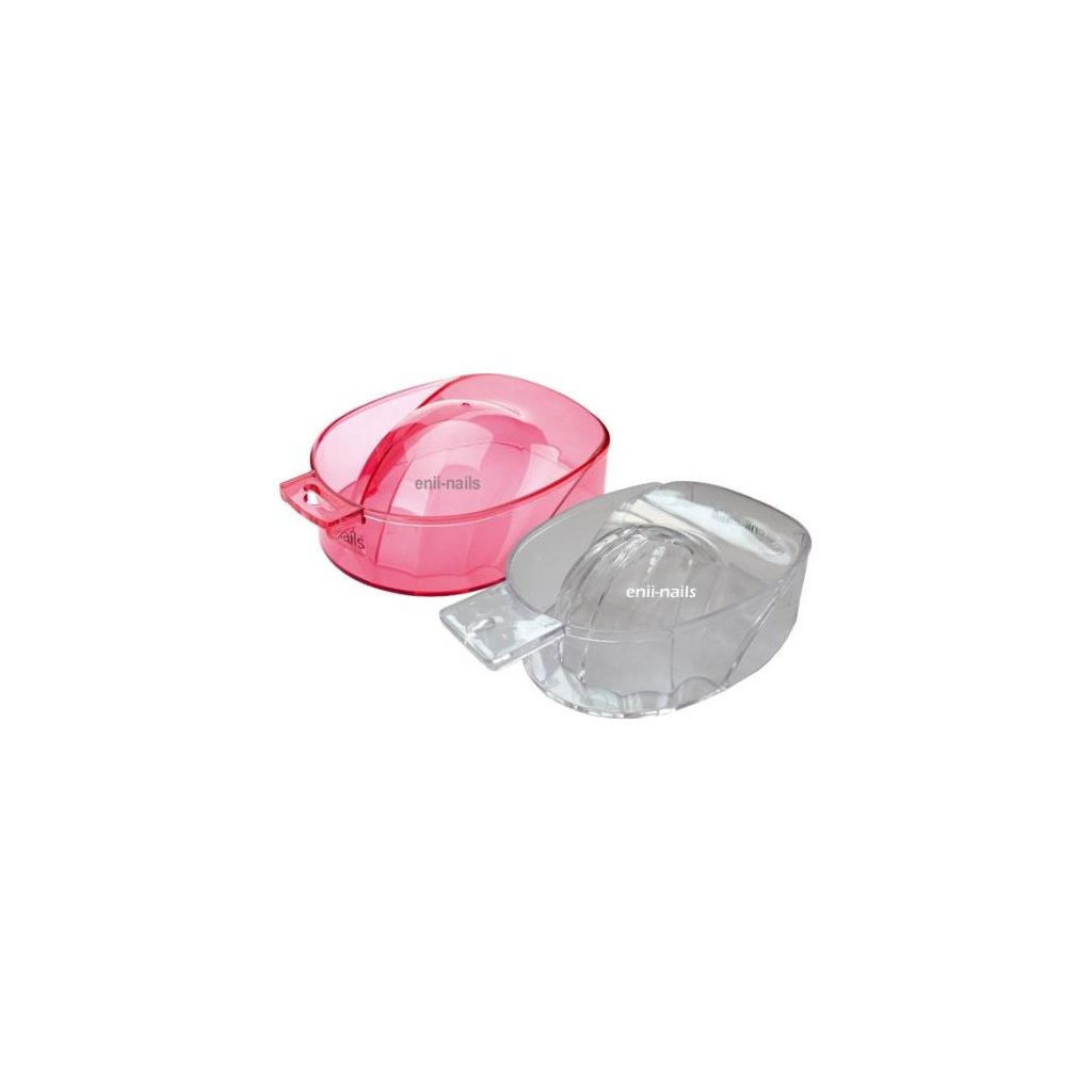 Manicure bowl clear red
