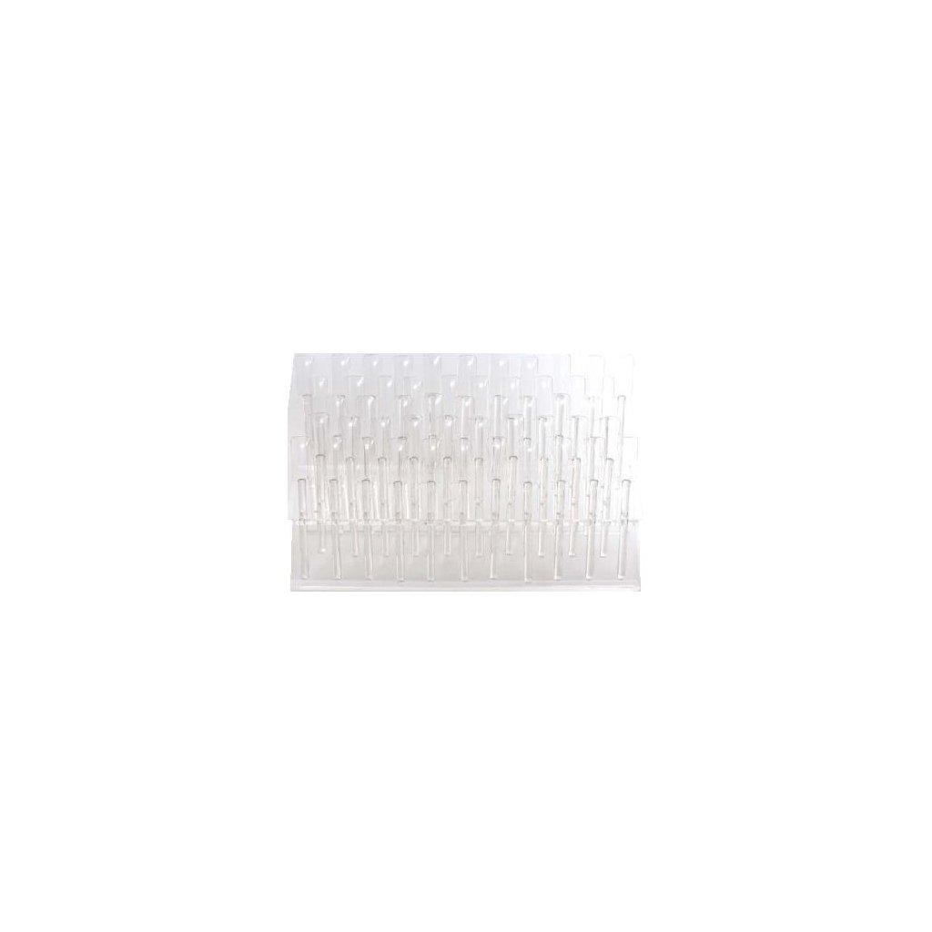 Blank plastic nail polish sampler holder