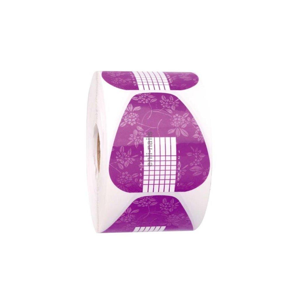 Nail form paper purple 500 pcs