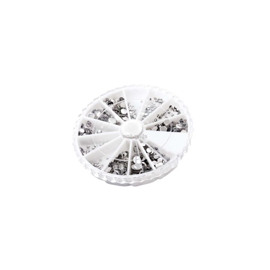 Rhinestones box silver mix approx 500 pcs