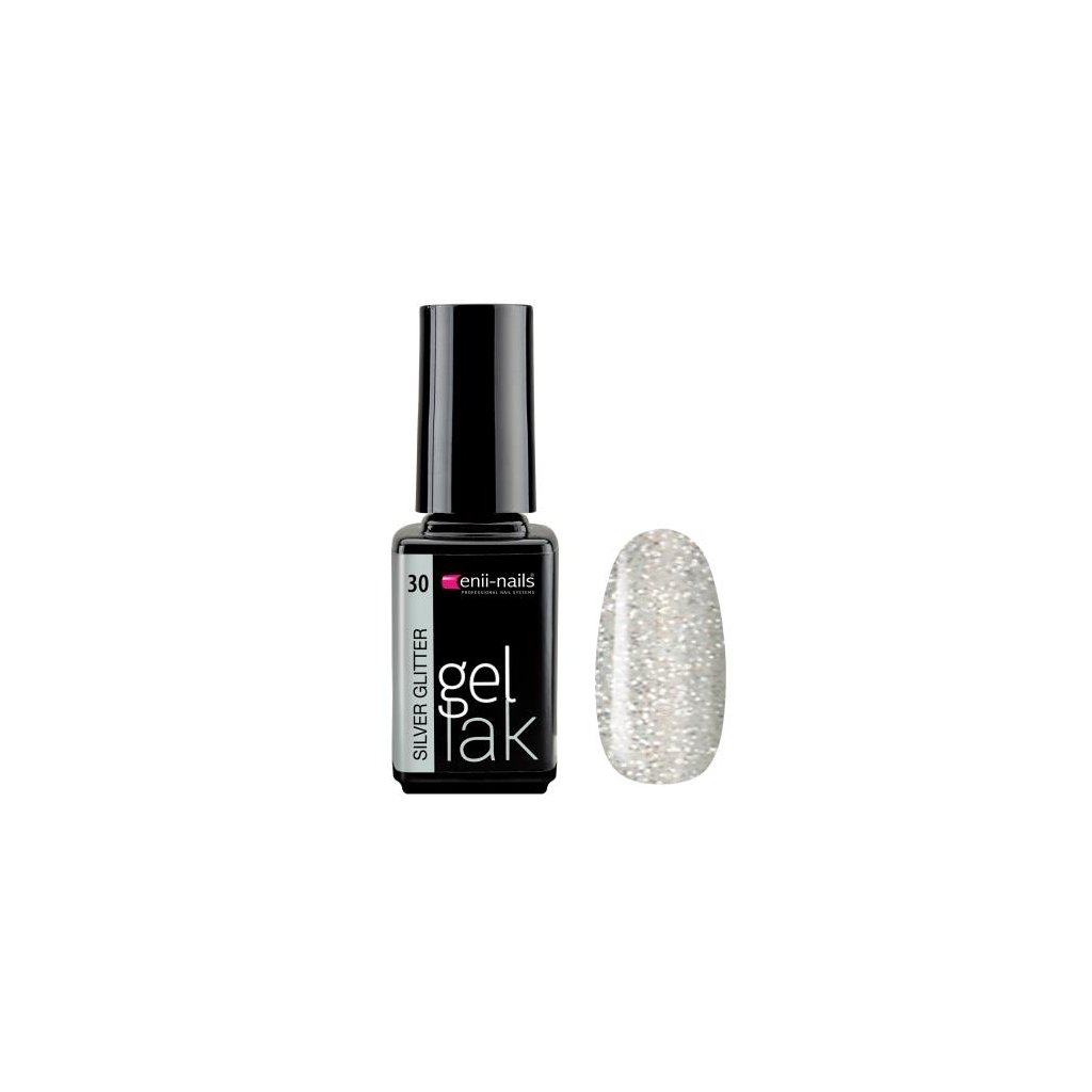 Gel polish silver glitter 5 ml