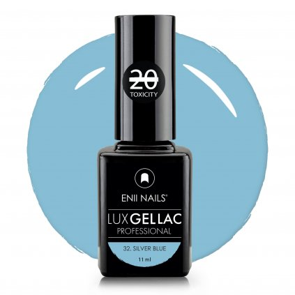 Lux Gel lac 32 Silver blue