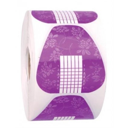 Nail form paper purple 100 pcs