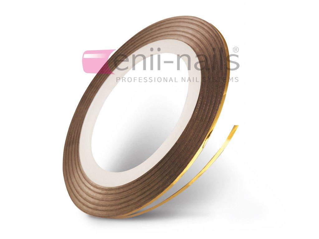 Nail art páska - zlatá, 1 mm