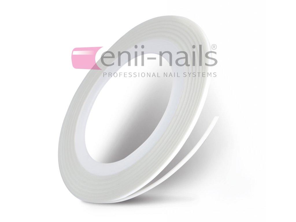 Nail art páska - bílá, 1 mm