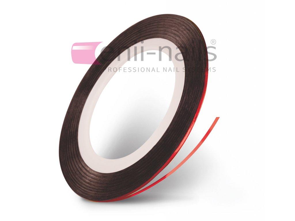 Nail art páska - červená, 1 mm