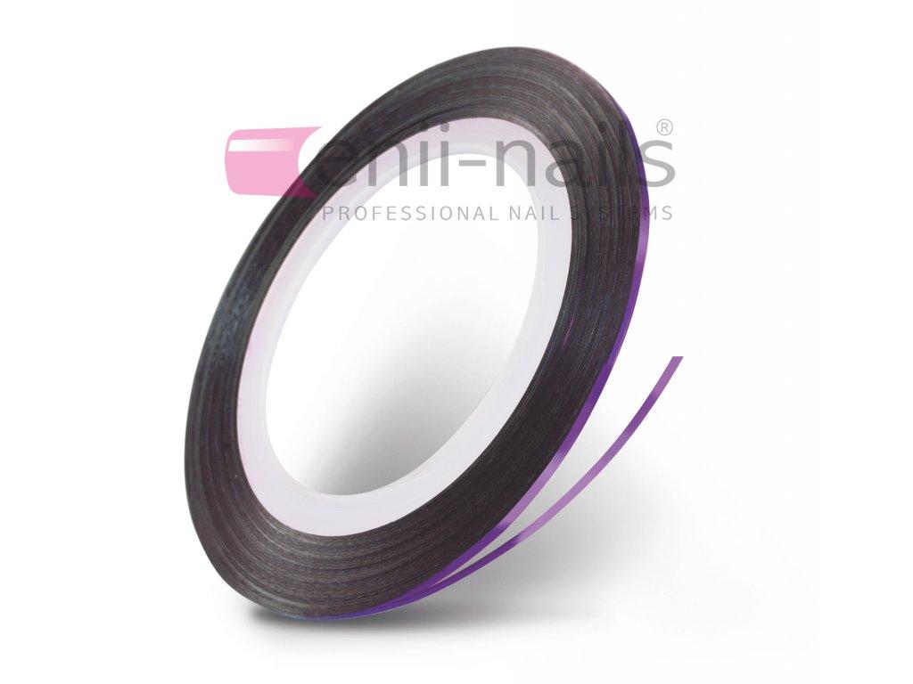Nail art páska - fialová, 1 mm