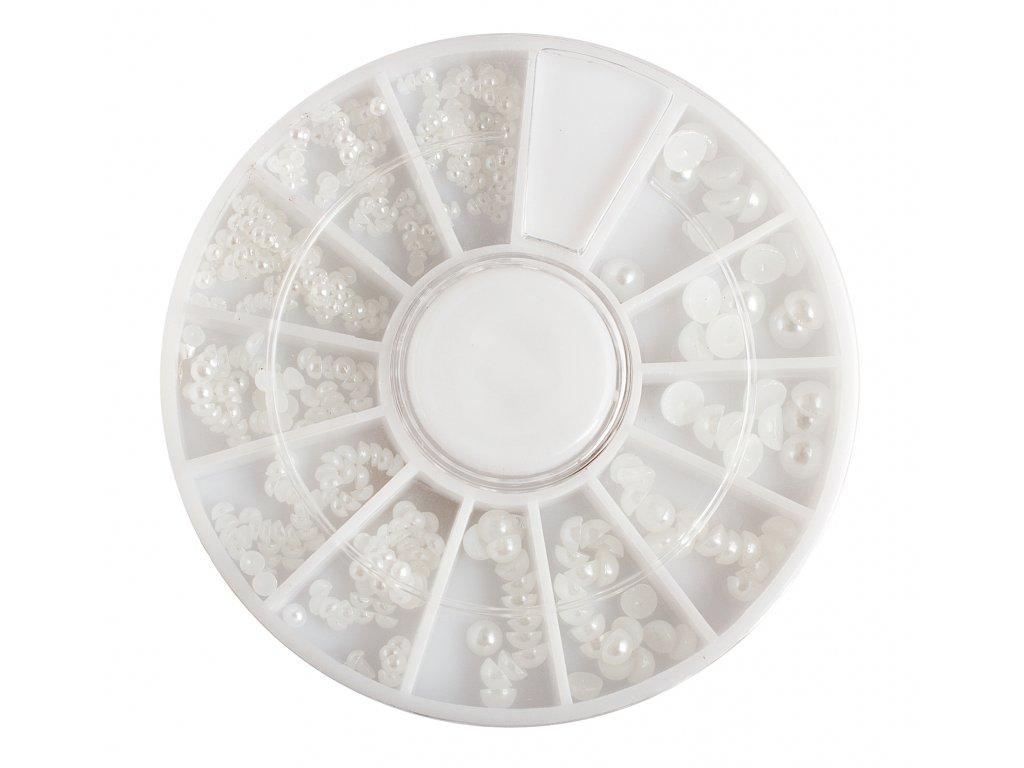 Perly bílé, cca 450 ks