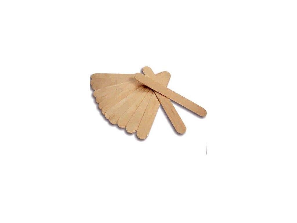 Špachtle dřevěná na vosk 100 ks