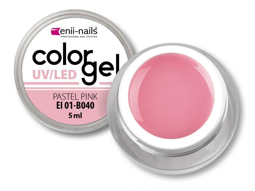 Barevný UV gel - Pastel Pink 5 ml