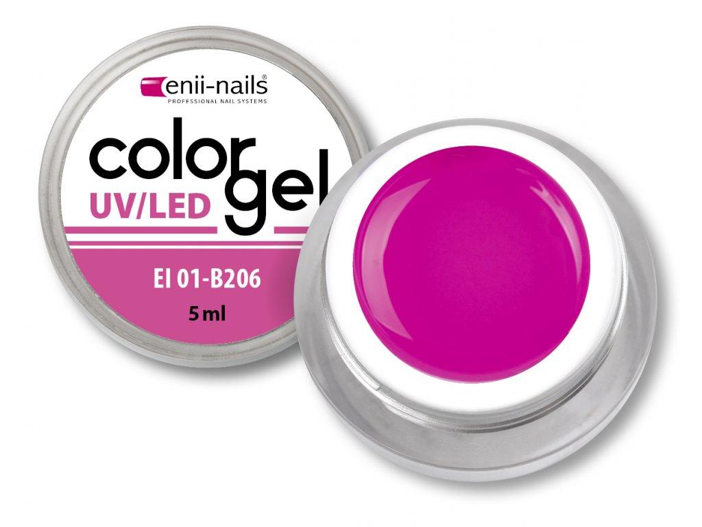 Barevný UV/LED gel 5 ml č.206