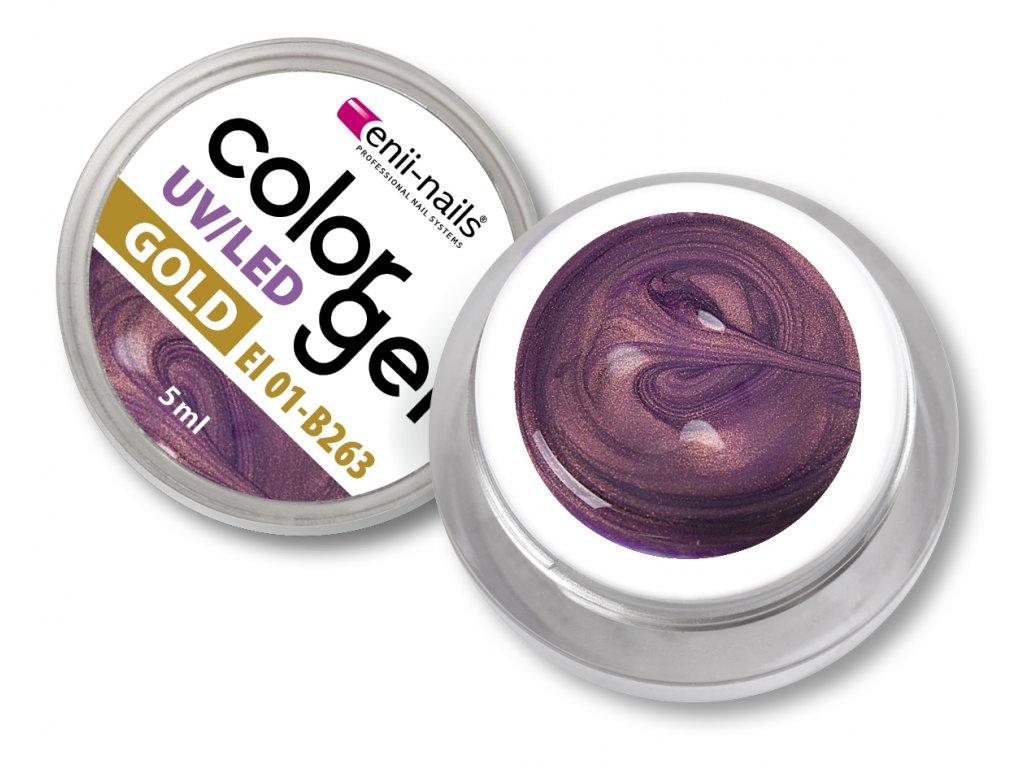 Barevný UV/LED gold gel 5 ml č.263