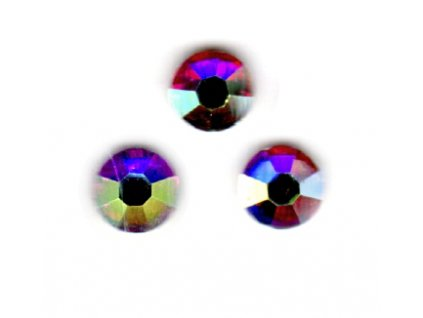 Štrasové kamínky s AB efektem - 30 ks
