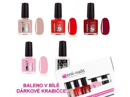 Sada ENII LAC 8 ml (4x barva dle vlastního výběru + 1x TOP) v dárkové krabičce
