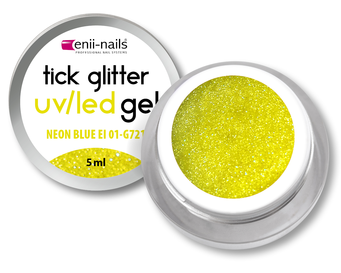 ENII-NAILS GLITROVÝ GEL NEON YELLOW