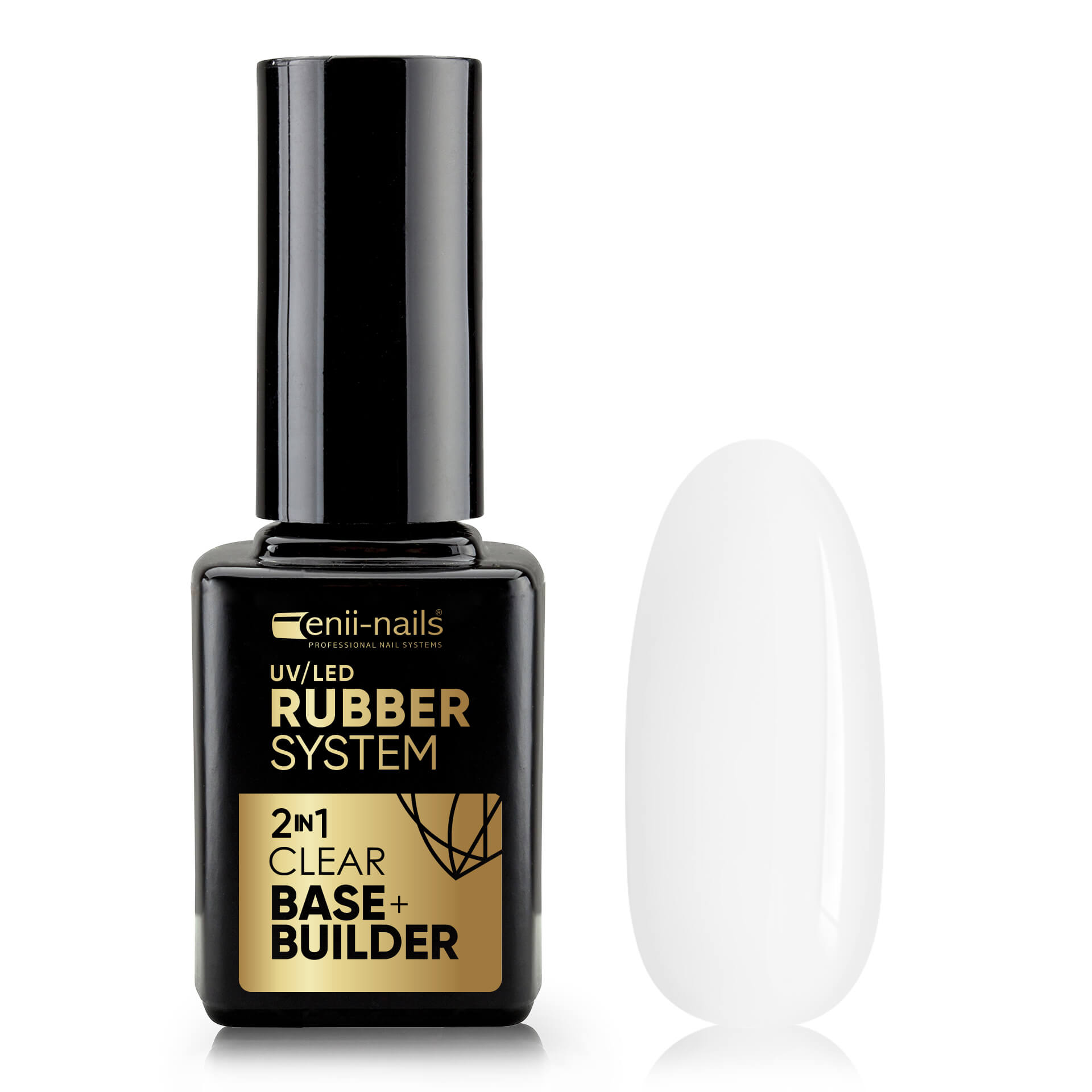 ENII-NAILS ENII RUBBER SYSTEM 2 in 1 base & builder clear 11 ml