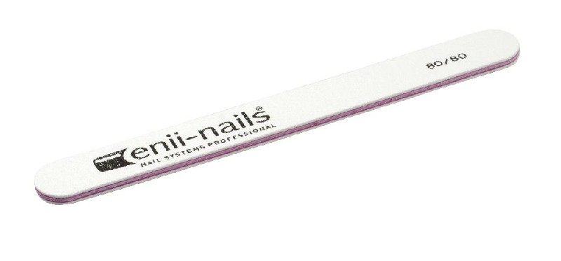 ENII-NAILS Pilník bílý 80x80