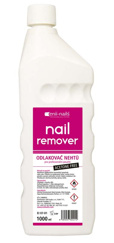 ENII-NAILS Bezacetonový odlakovač 500ml