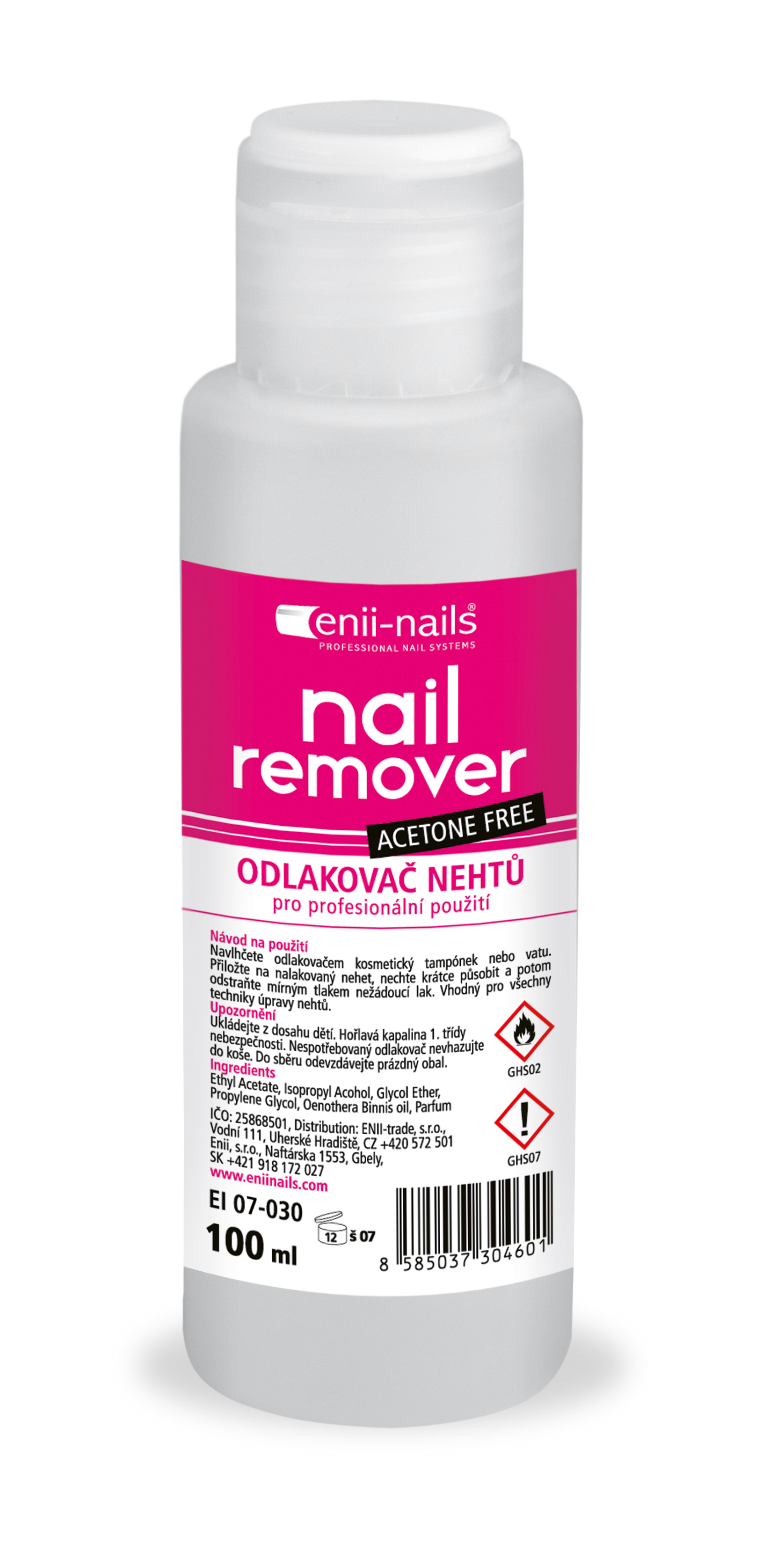 ENII-NAILS Bezacetonový odlakovač 100 ml