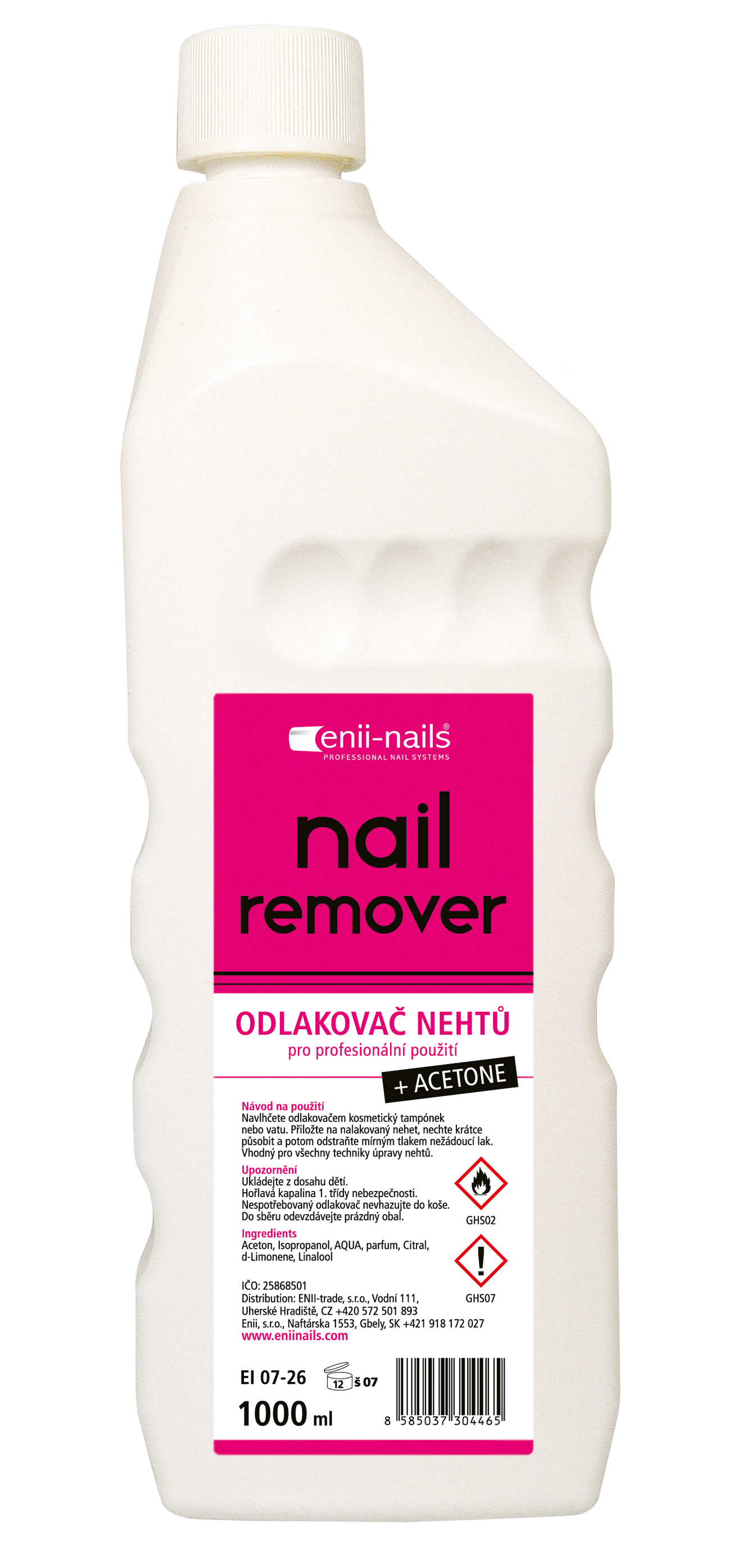 ENII-NAILS Acetonový odlakovač 1000 ml