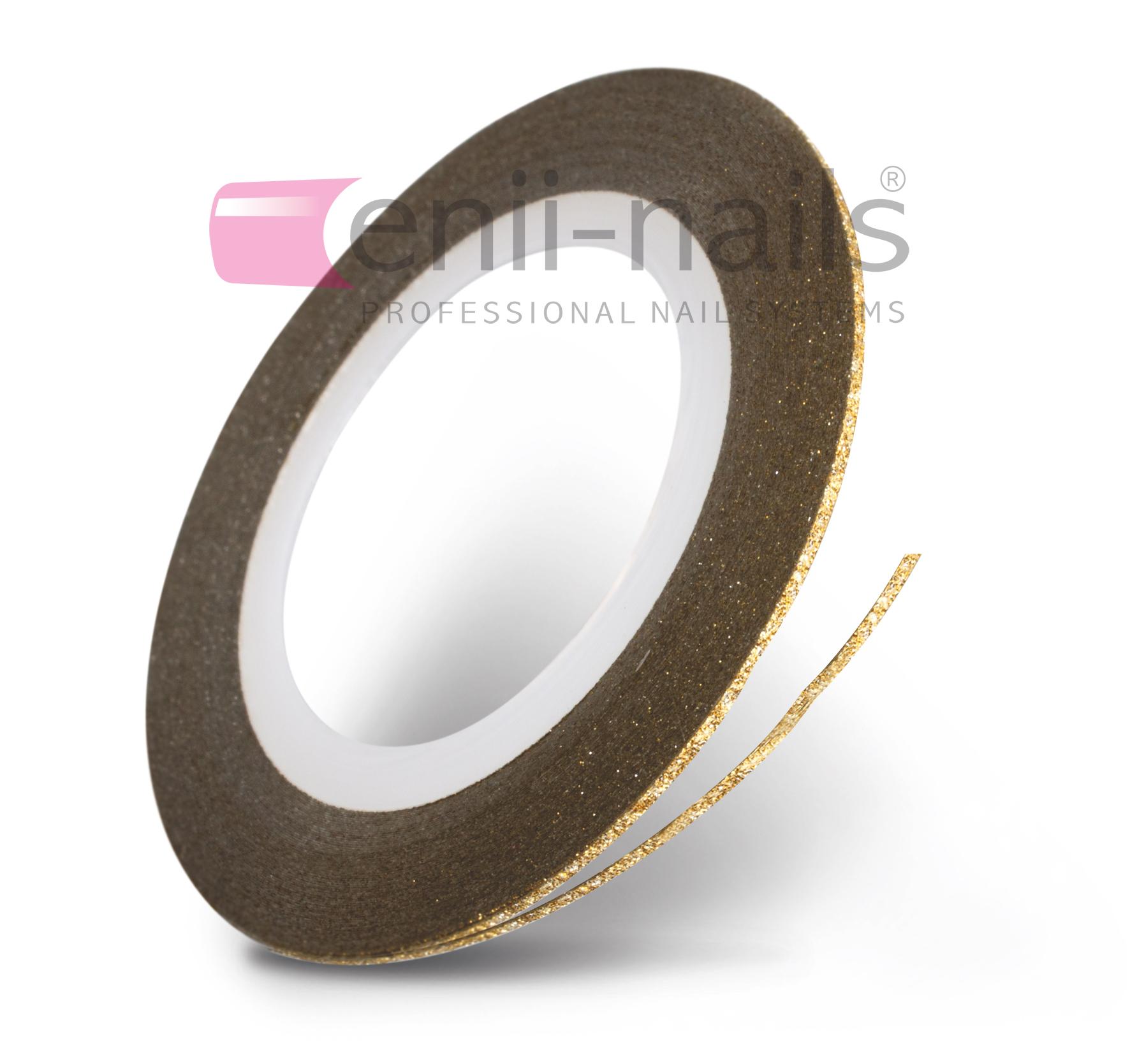 ENII-NAILS Nail art glitrová páska - zlatá, 1 mm