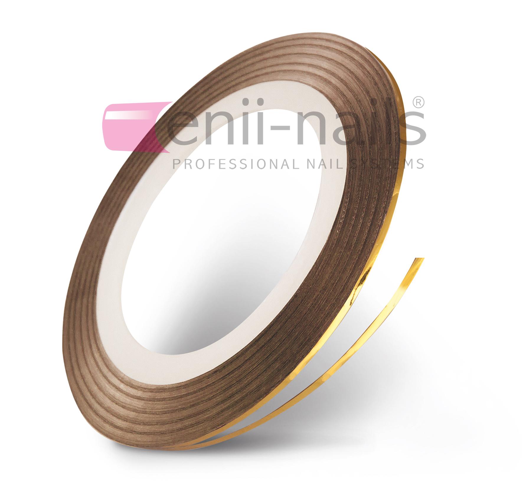 ENII-NAILS Nail art páska - zlatá, 1 mm