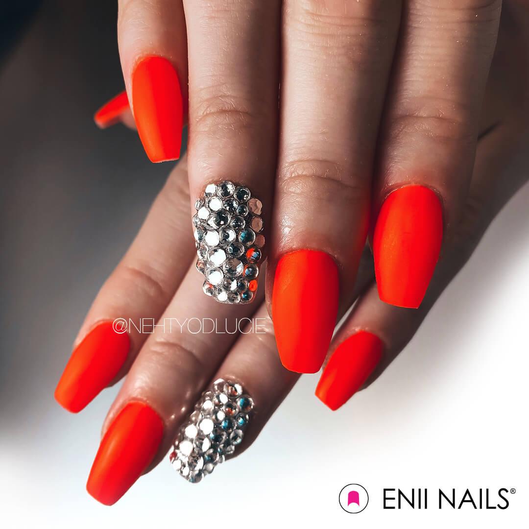 ENII-NAILS Štrasové kamínky stříbrné - mix
