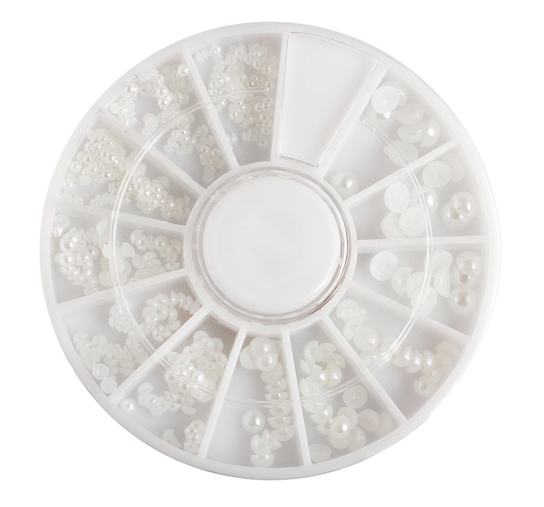 ENII-NAILS Perly bílé, cca 450 ks