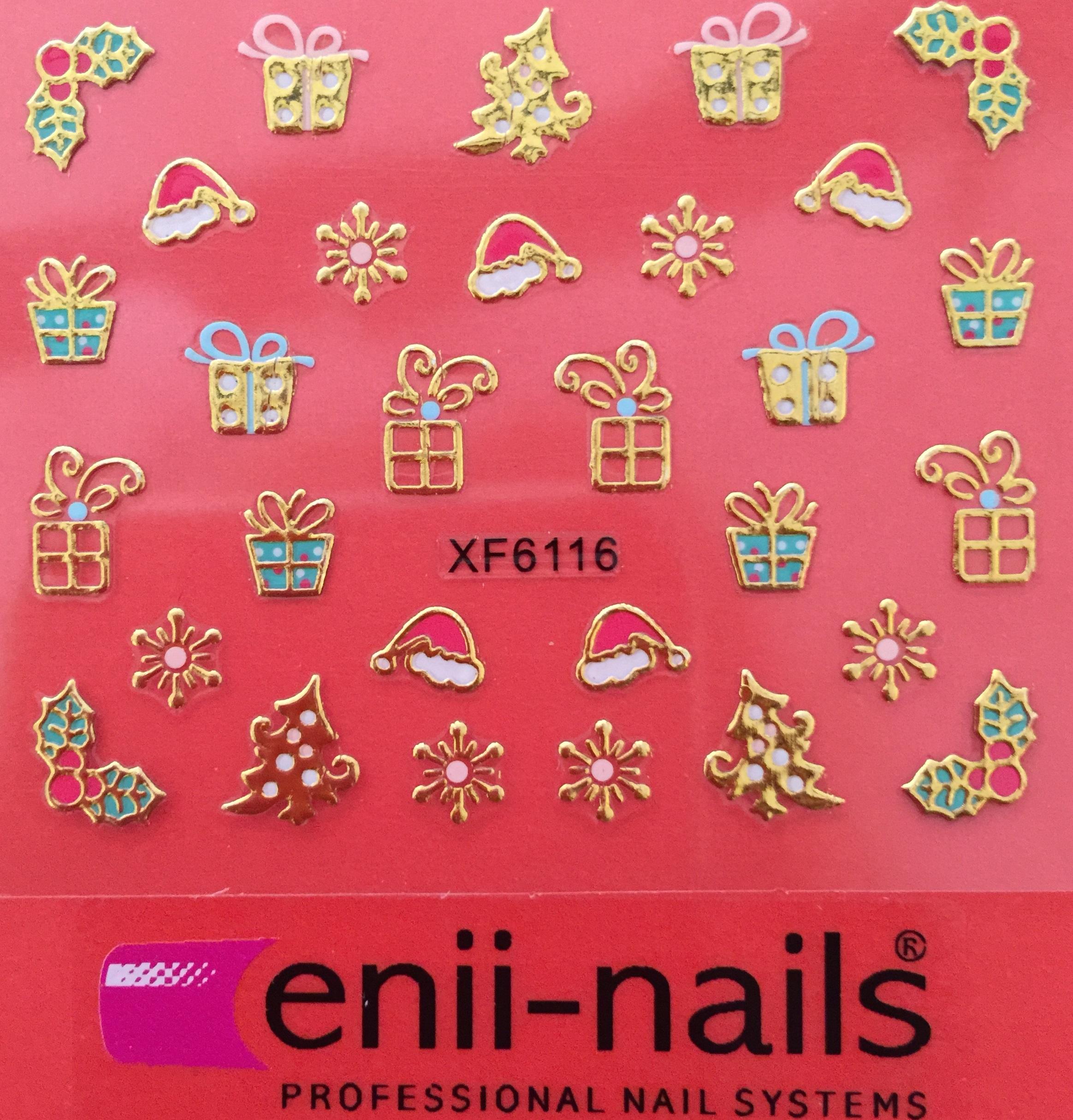 ENII-NAILS Vánoční nálepka na nehty